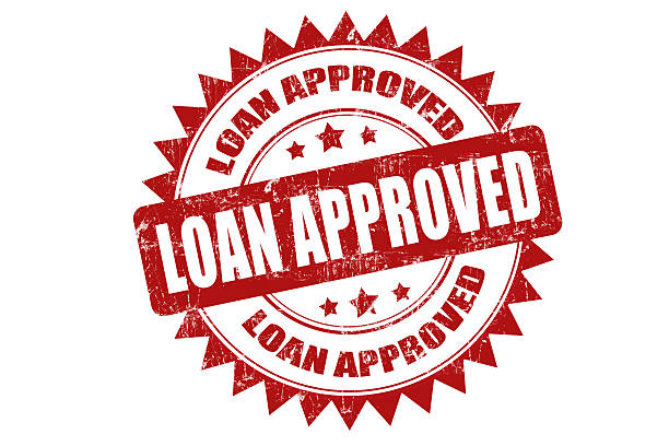 Loan Approved stock photo