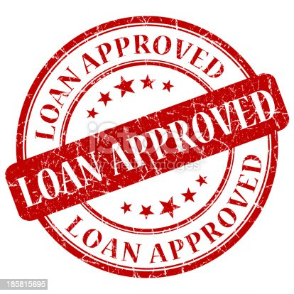 istock loan approved red round stamp 185815695