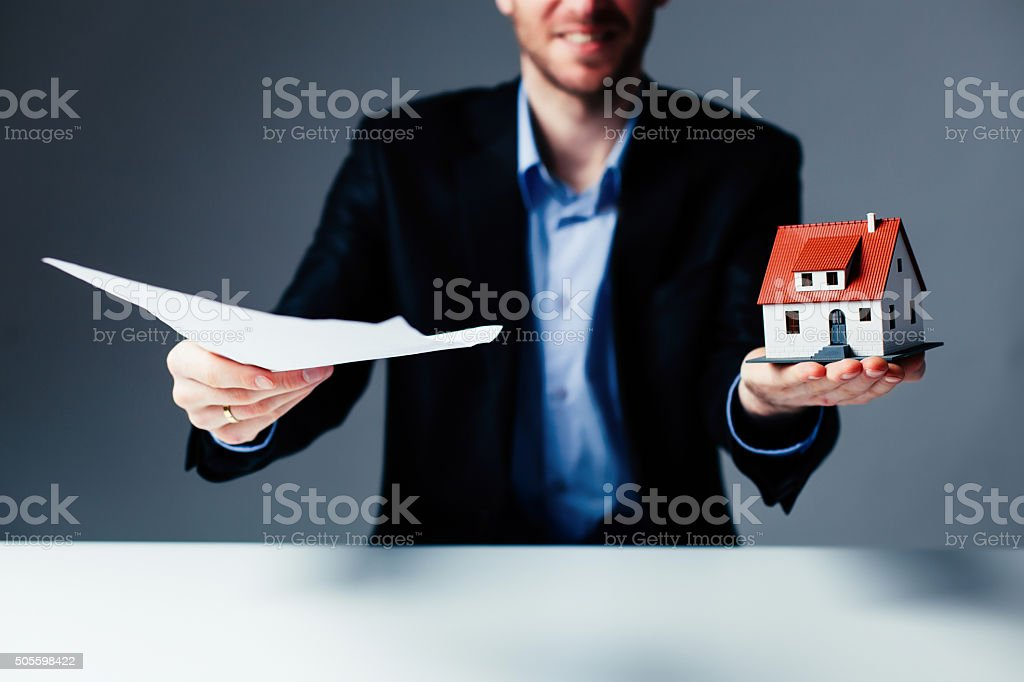 Loan for house concept stock photo