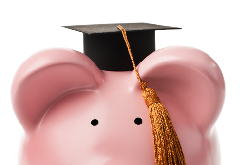Loan For University Education Finance Planning In Piggy Bank Savings Stock Photo - Download Image Now
