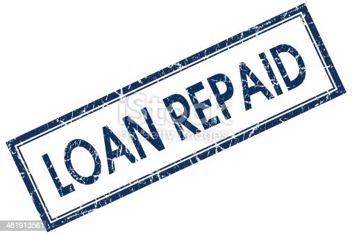 istock loan repaid blue square stamp 481913561