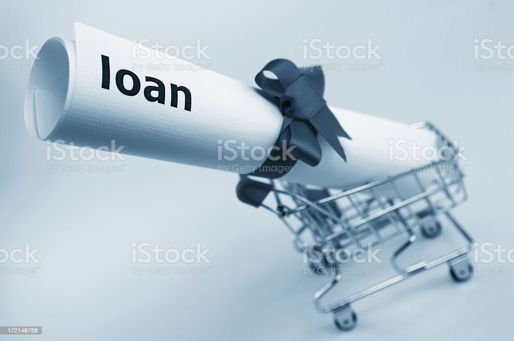 loan shopping royalty-free stock photo