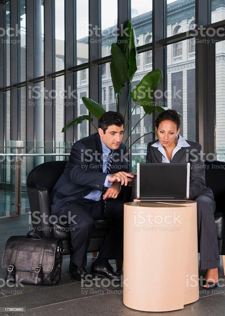Lobby Business Meeting stock photo