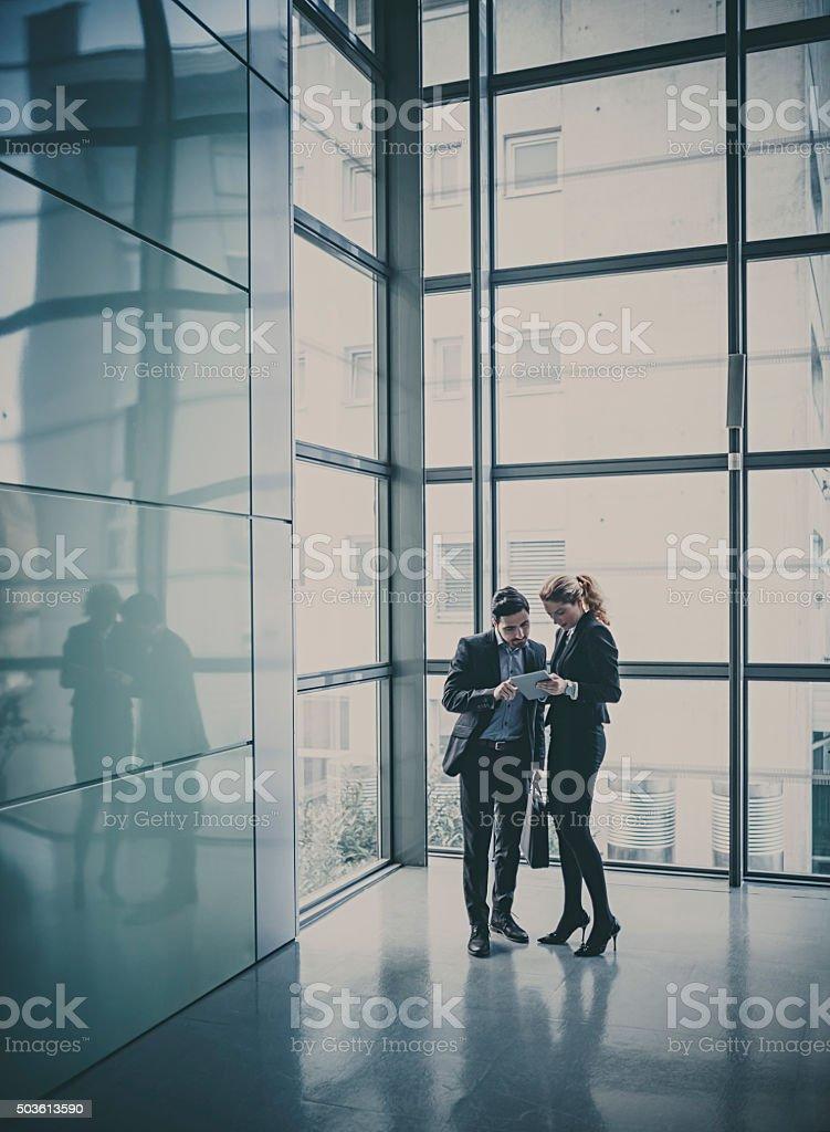 lobby business-meeting – Foto