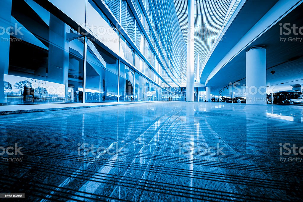 lobby of airport royalty-free stock photo