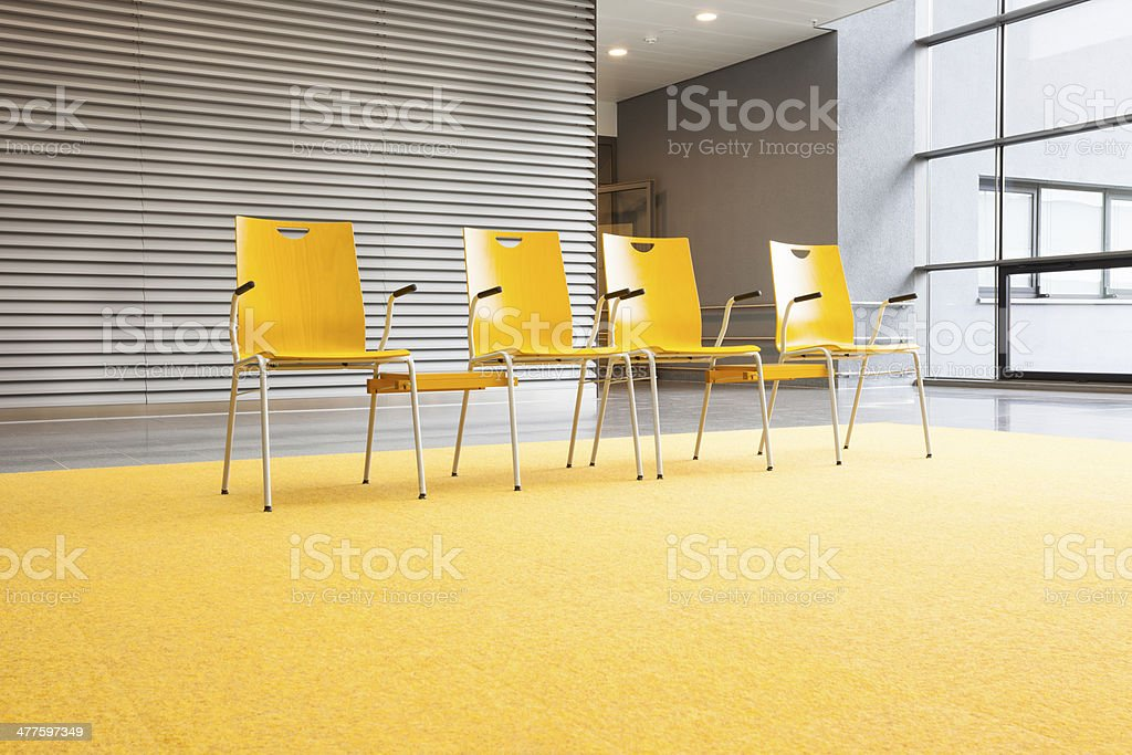 Lobby With Empty Chairs stock photo