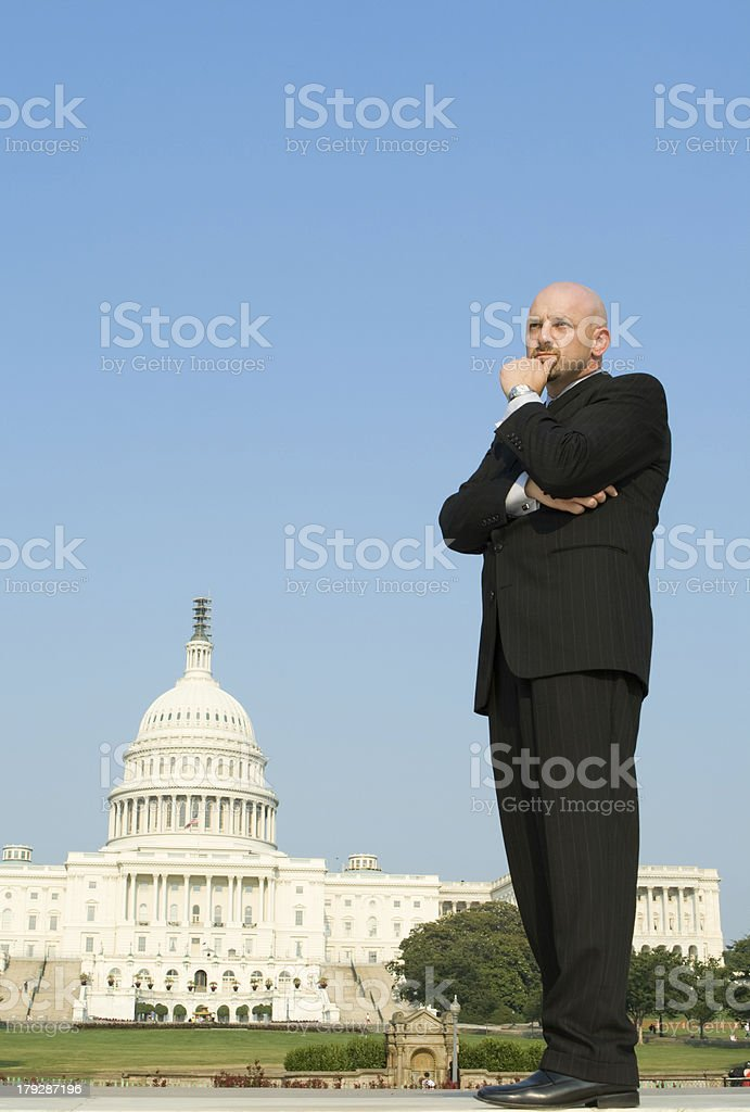Lobbyist Power Broker Outside US Capitol Washington DC USA royalty-free stock photo