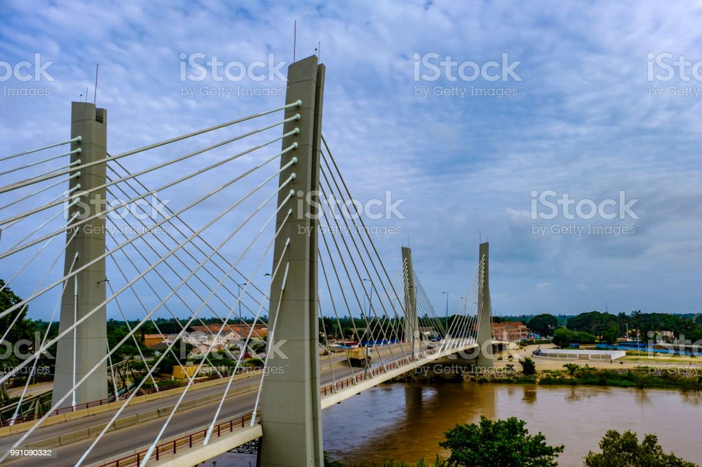 Lobito Catumbela Bridge stock photo