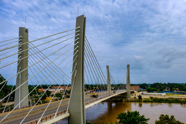 Lobito Catumbela Bridge stock photo