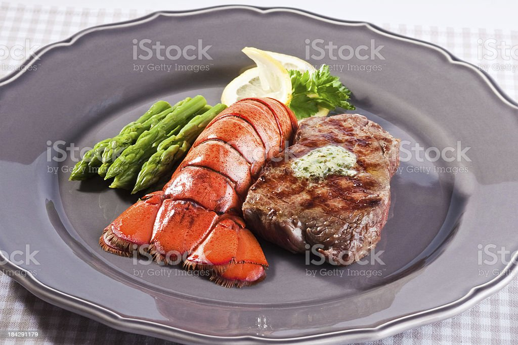 Lobster & Steak royalty-free stock photo