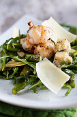 Gourmet Salad with Lobster, Artichoke, Asparagus, Arugula and Parmesan Cheese