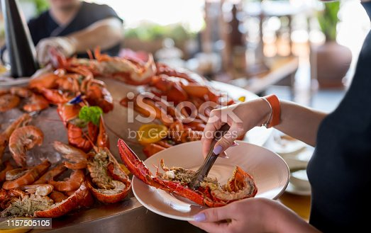 Lobster at buffet, Nikon Z7
