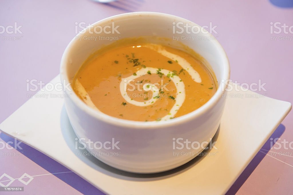 Lobster Bisque soup stock photo