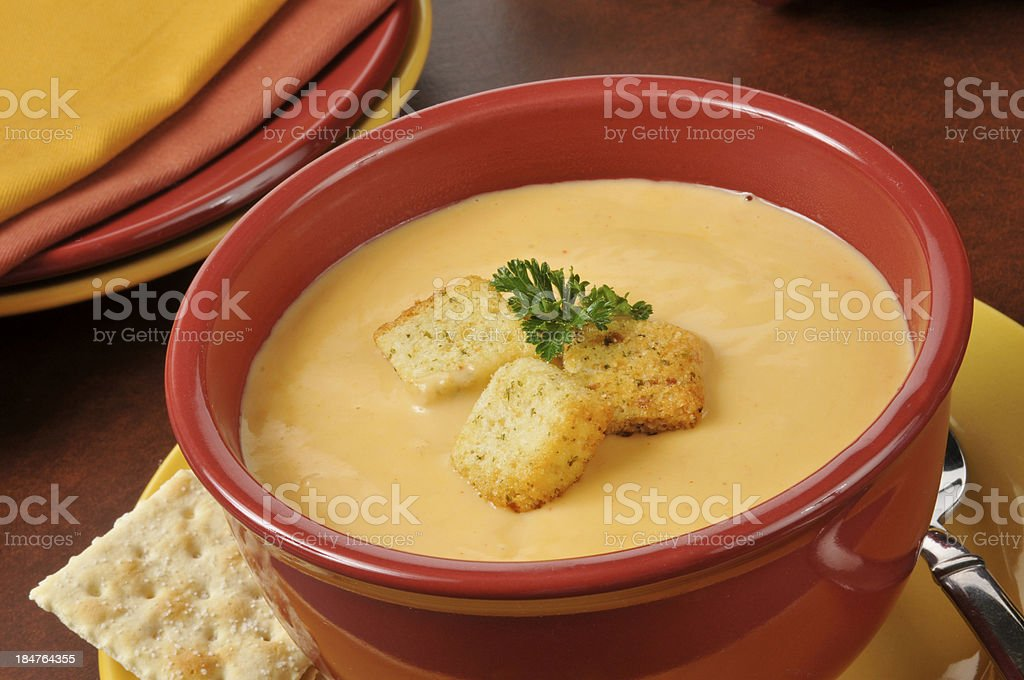 Lobster bisque with sherry stock photo