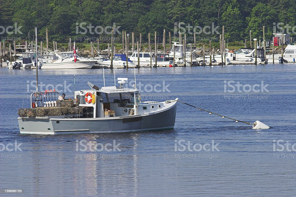 Lobster boat stock photo
