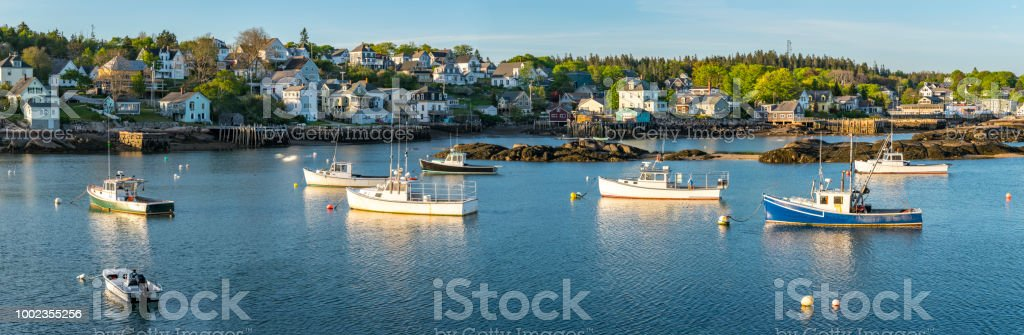 Lobster Boats In The Fishing Village Of Stonington Maine