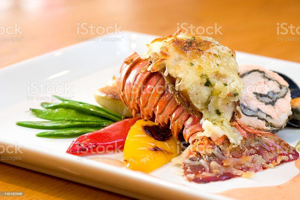 Lobster Dinner stock photo