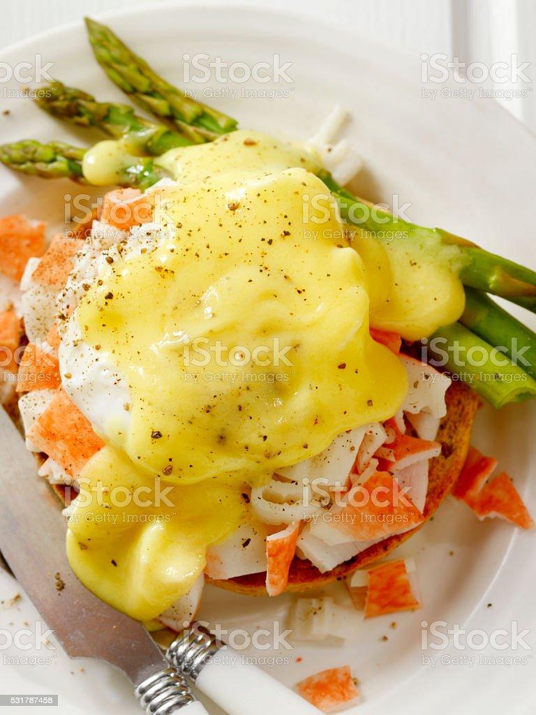 Lobster Eggs Benedict stock photo