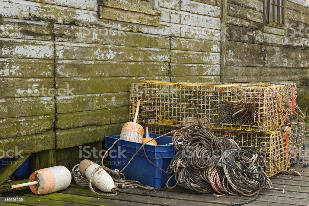 Lobster Fisherman's Equipment stock photo