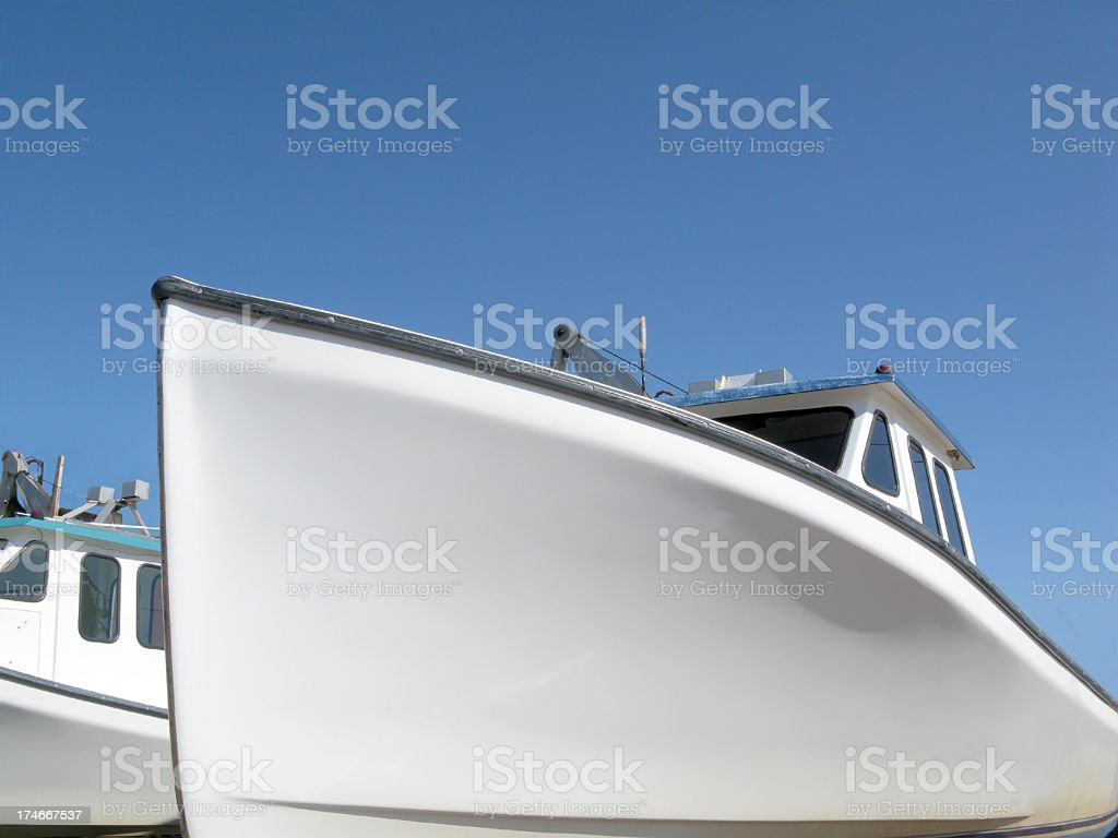 Lobster Fishing Boat. stock photo