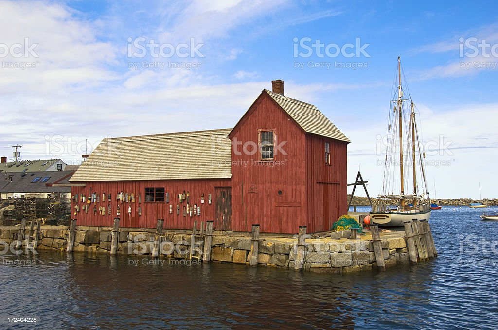 Lobster Hut Rockport Massachusetts royalty-free stock photo