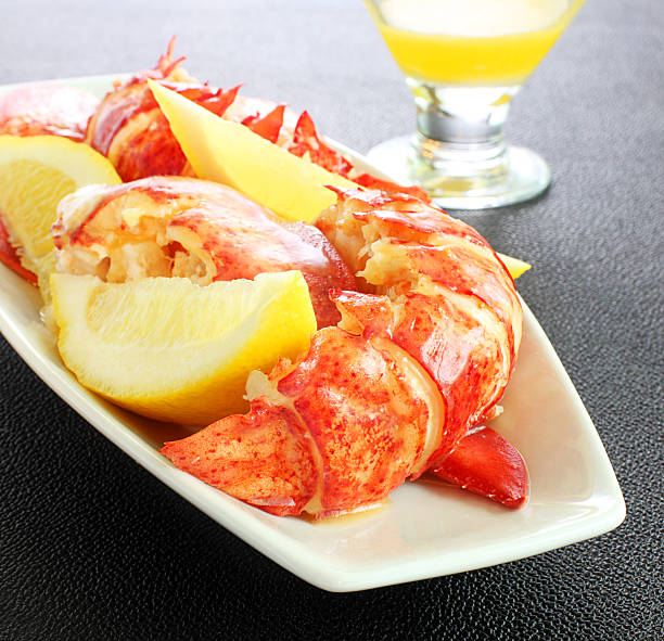Lobster meal stock photo