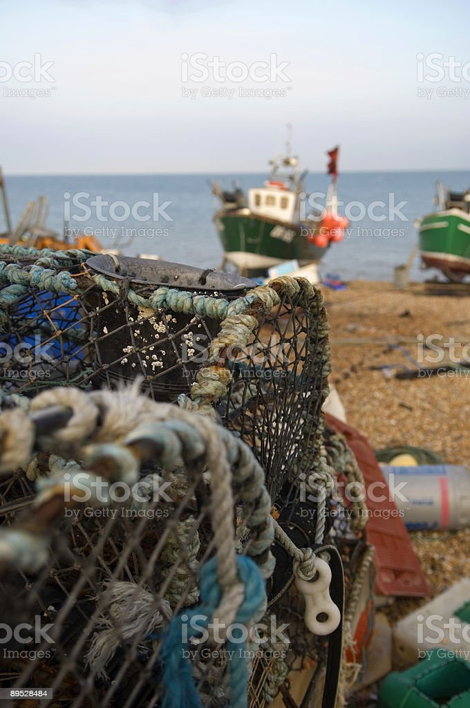 Lobster nets royalty-free stock photo