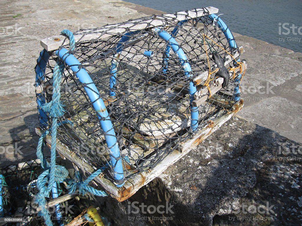 Lobster Pot in Crail, Fife in Scotland stock photo