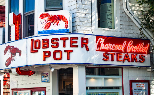 Lobster Pot Restaurant In Provincetown, Cape Cod, Massachusetts stock photo
