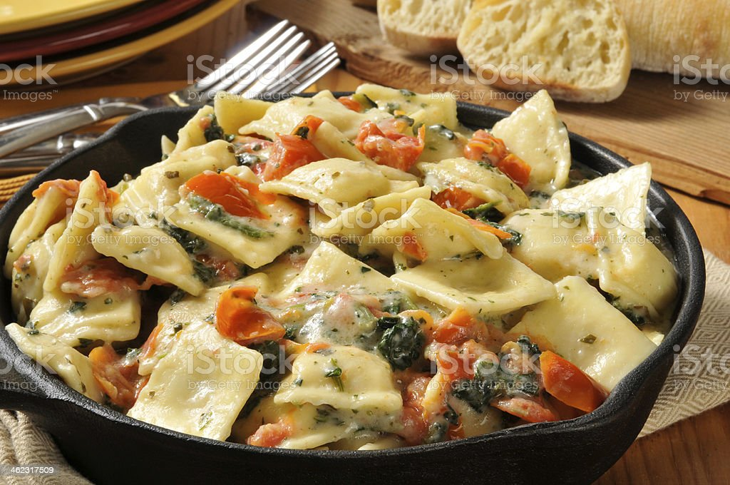 Lobster ravioli stock photo