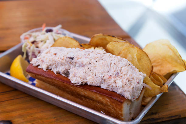Lobster Roll in a Tin Tray