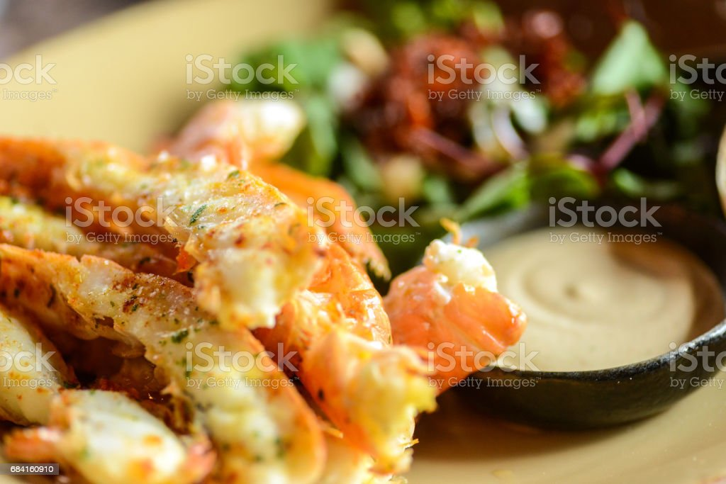 Lobster seafood in restaurant on plate foto stock royalty-free