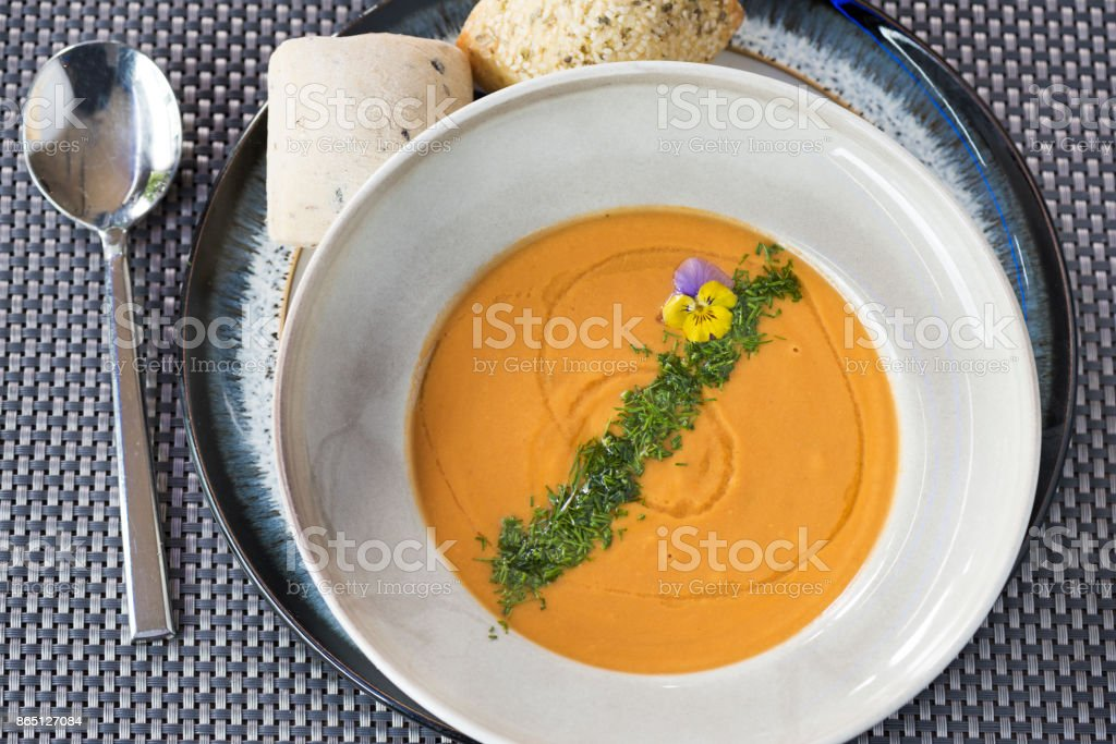 Lobster Soup stock photo