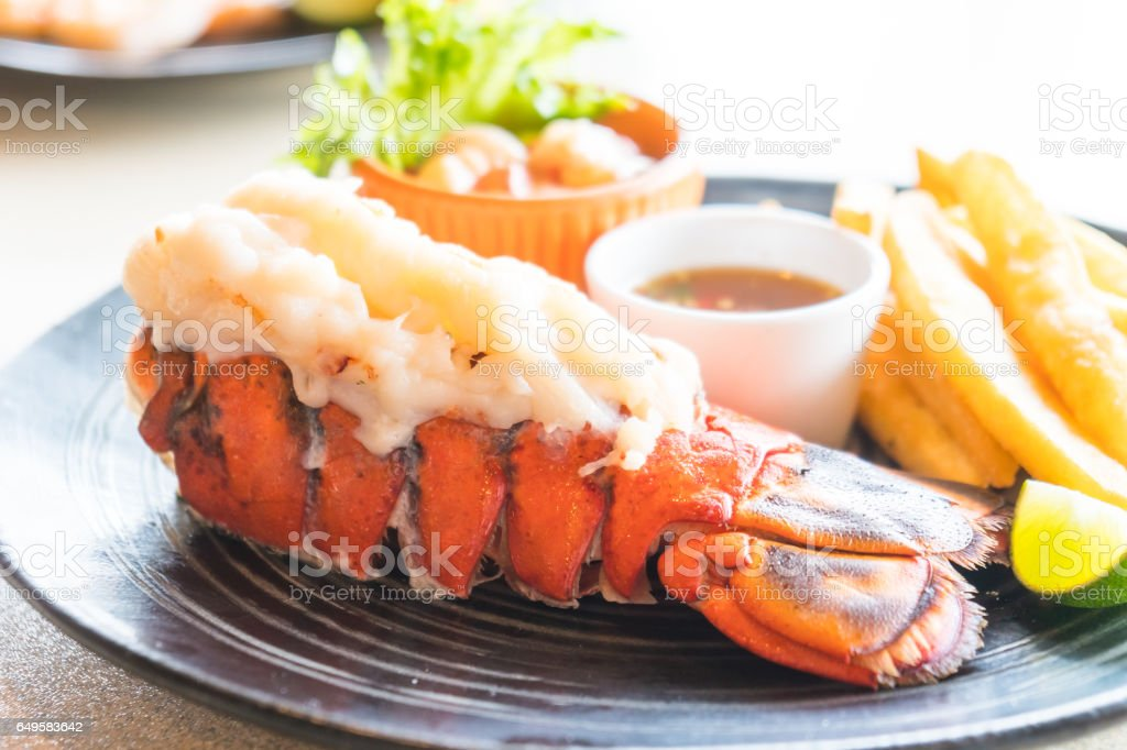 Lobster steak stock photo