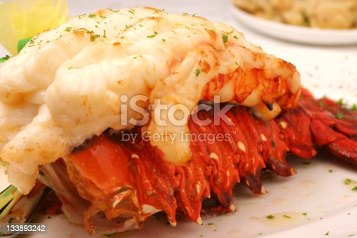lobster tail with lemon and butter