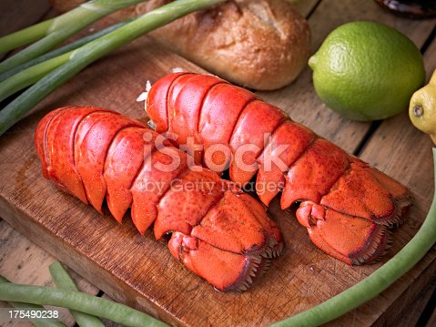 Cooked Lobster Tail.