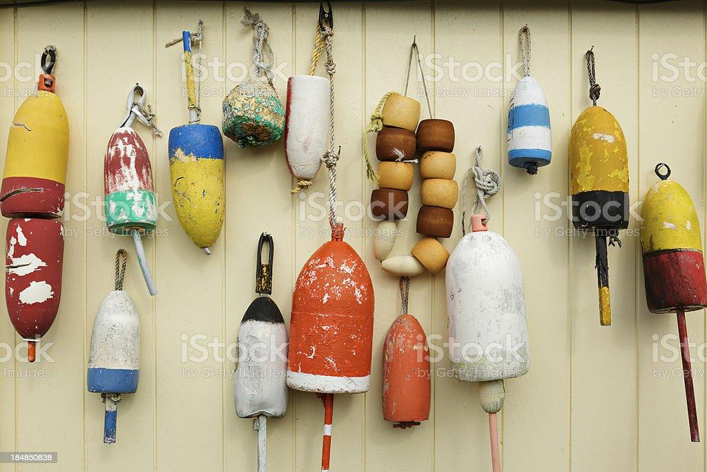 Lobster Trap Buoys royalty-free stock photo