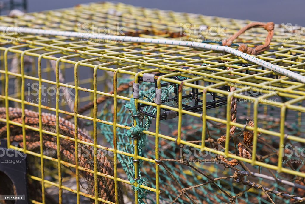 Lobster Trap Close Up royalty-free stock photo
