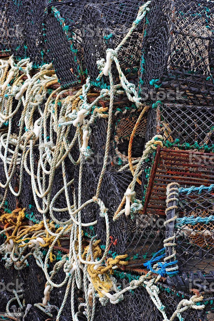 Lobster trap. royalty-free stock photo