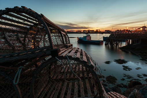 Lobster Traps in Twilight