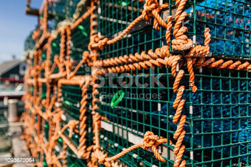 Lobster Traps piled in a Nova Scotia Village