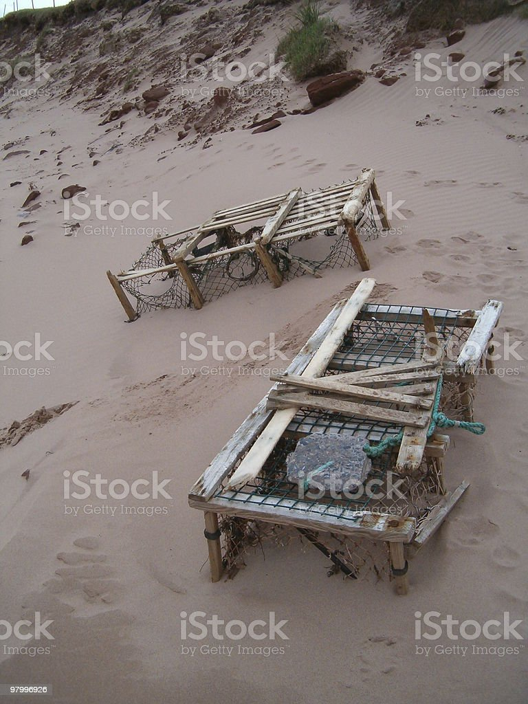lobster traps royalty-free stock photo