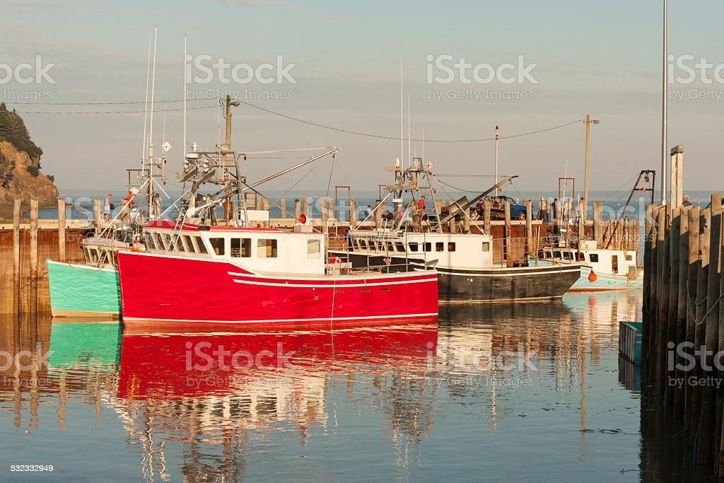 Lobster trawlers stock photo