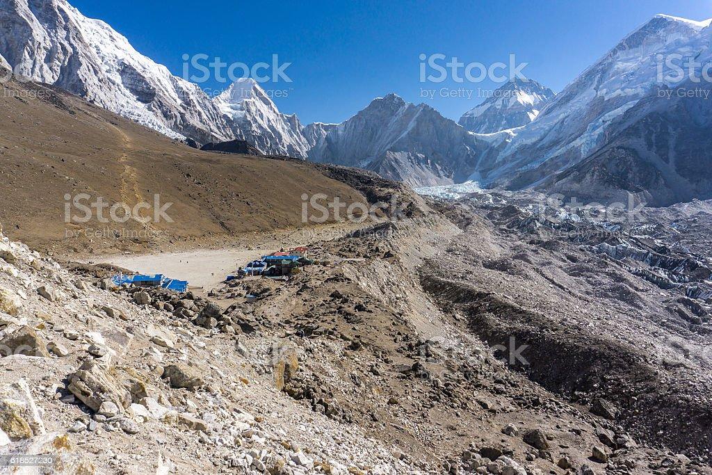 Lobuche to Gorak Shep, Nepal stock photo