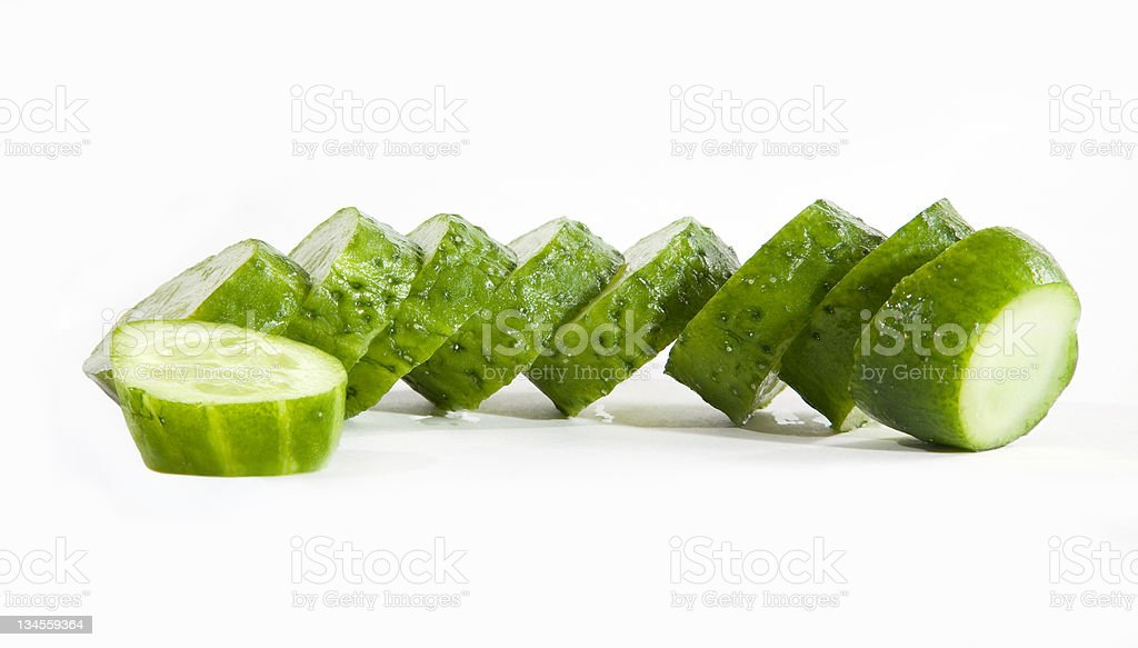 Lobules of cucumber royalty-free stock photo