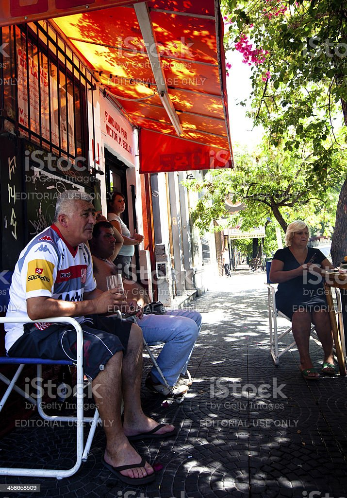 Local Buenos Aires residents socializing royalty-free stock photo