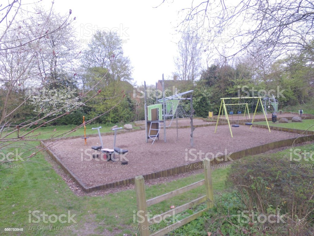 Local childrens Park foto stock royalty-free