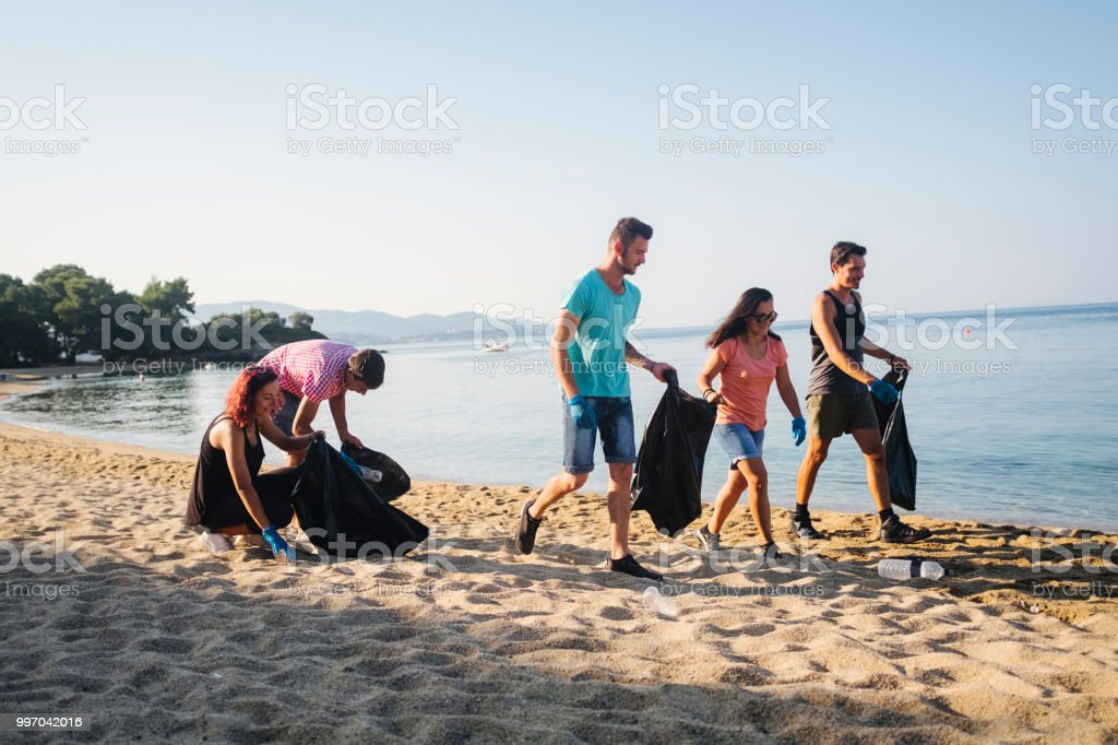 Local Clean Up stock photo