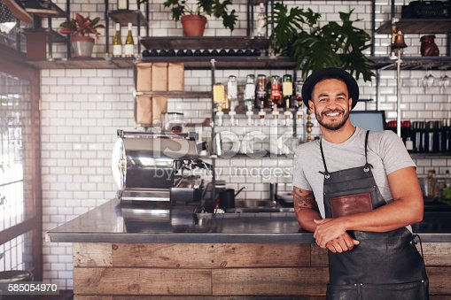 istock Local coffee shop owner 585054970