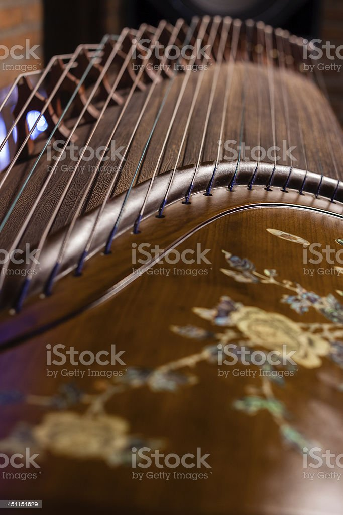 Local details of  Guzheng stock photo